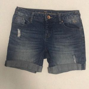 Justice distressed girls shorts